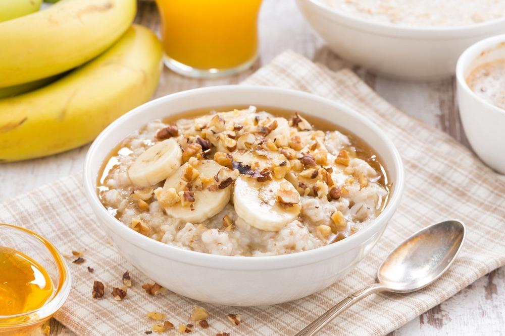 Porridge de plátano y cacahuetes
